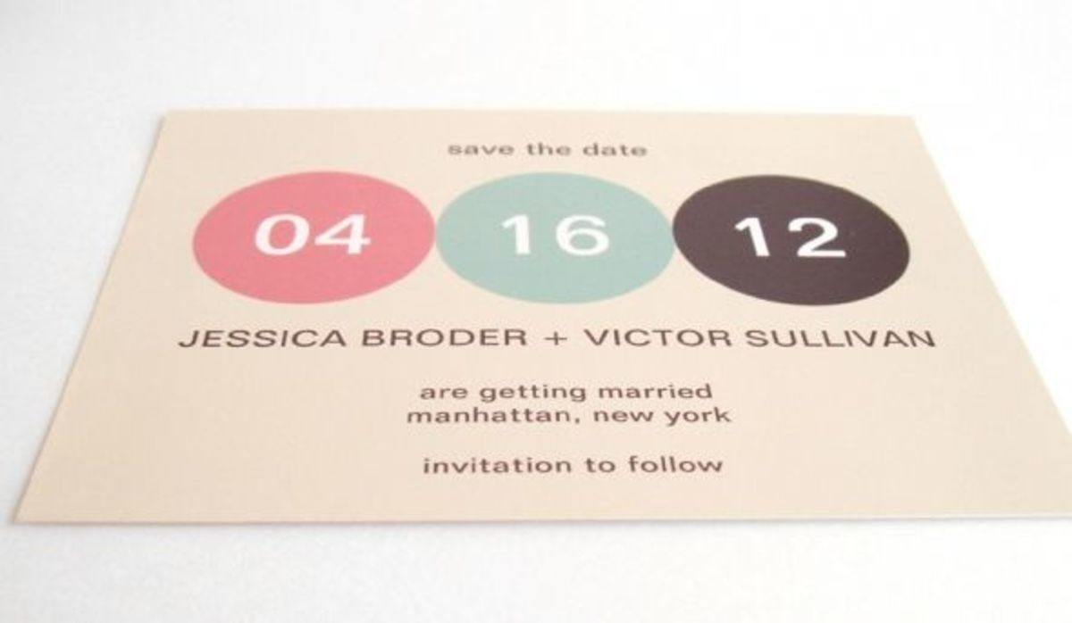 A modern save the date card with full ink coverage printed on zazzle basic paper.