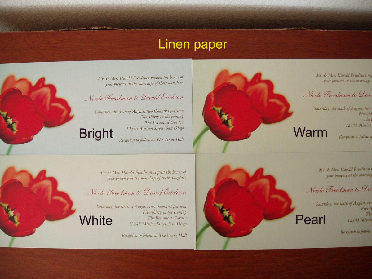 Linen paper choices