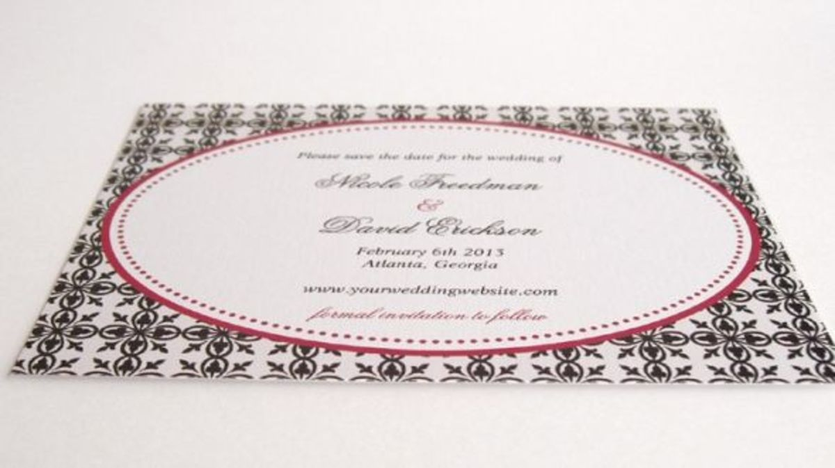 A lace design save the date cards printed on zazzle linen paper.
