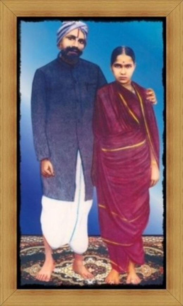 Bharathi and His Wife Chellammal