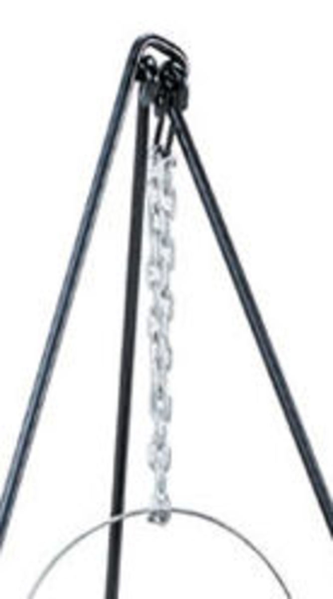 metal campfire tripod links and chain