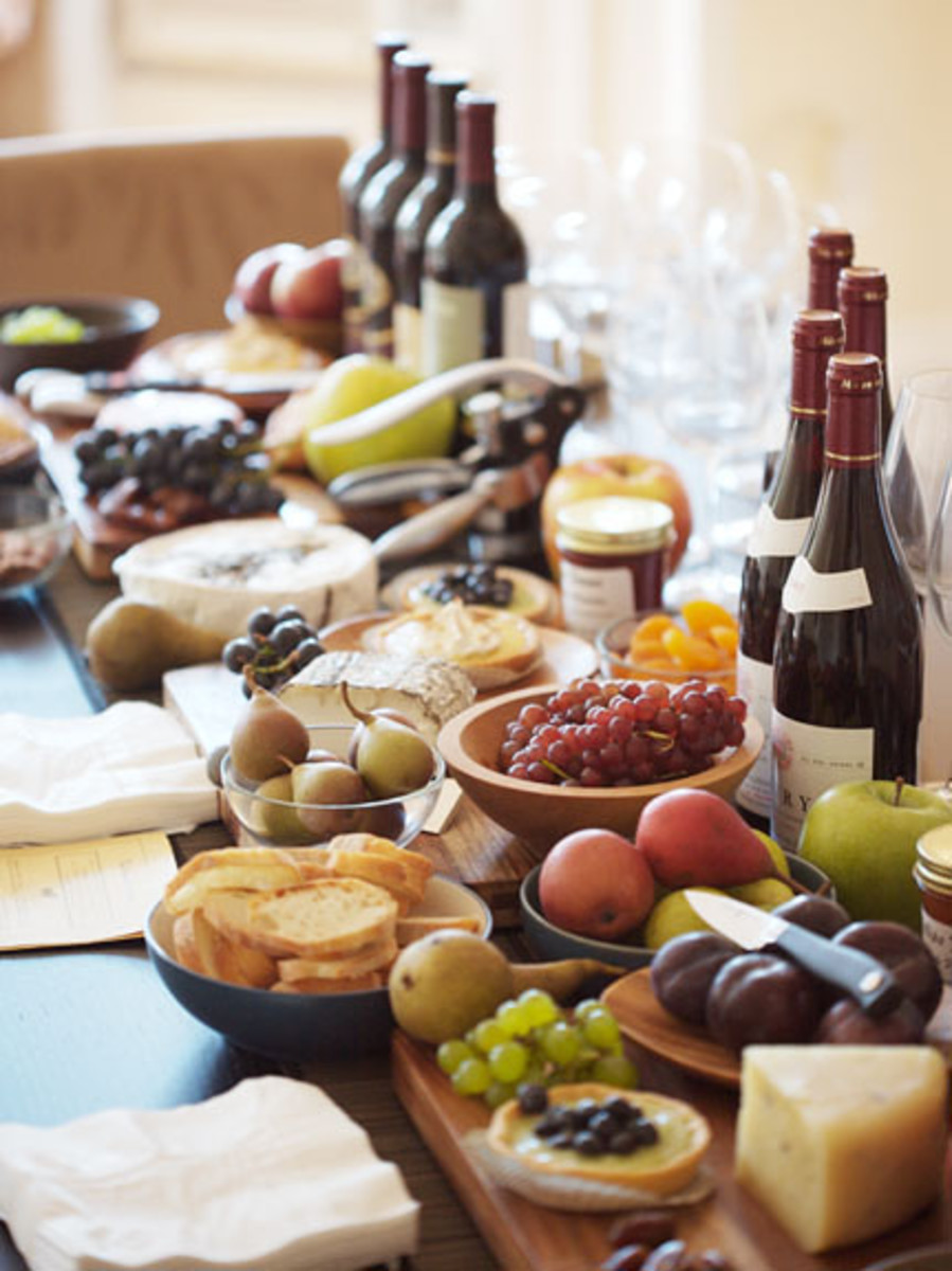 Cheese and Wine Dinner Party