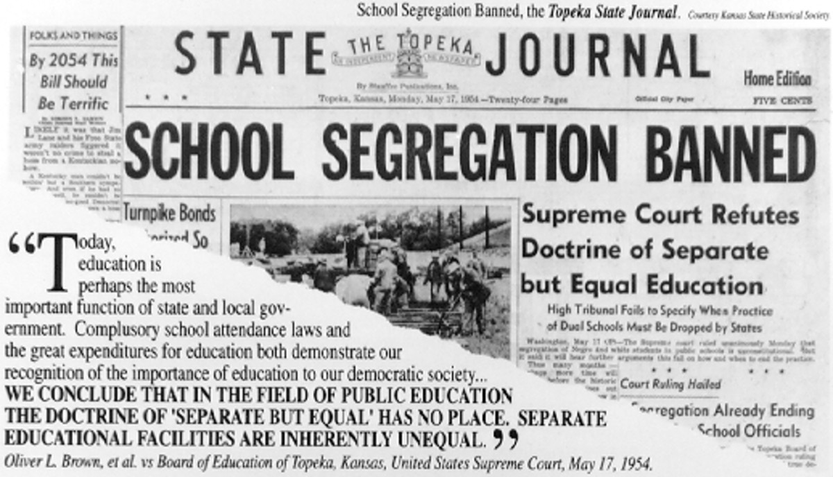 Supreme Court Case: Brown vs The Board Of Education