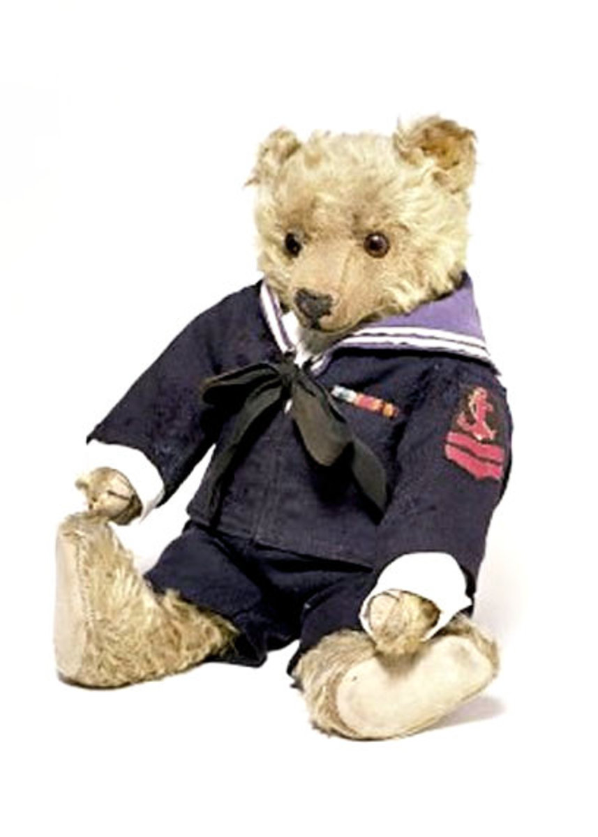Teddy Bear produced in the factory of J K Farnell in London in 1911