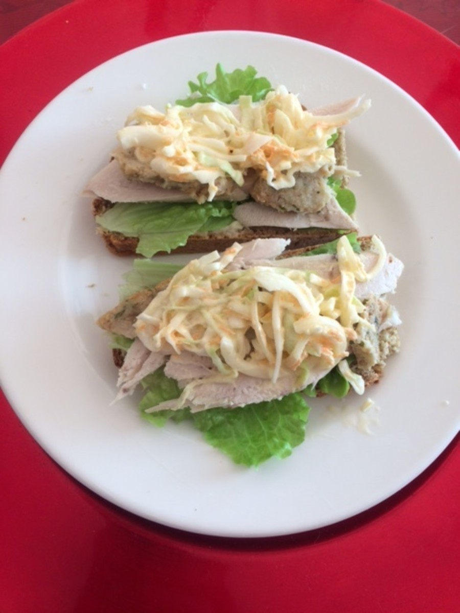 Open Sandwich on Brown Soda Bread