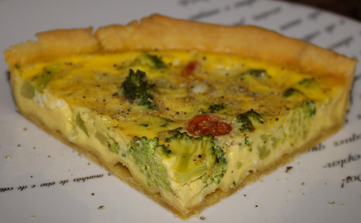 Cold Sliced Quiche