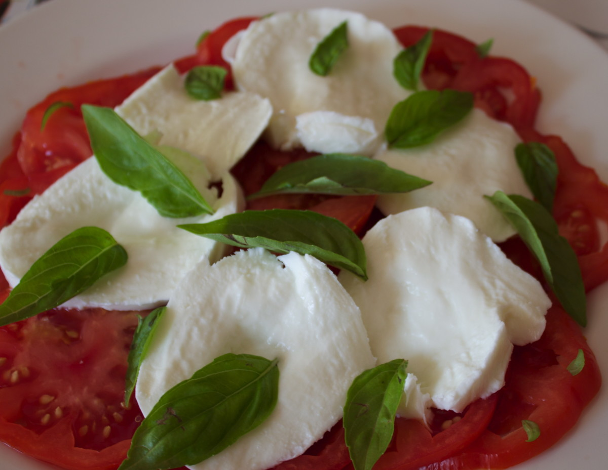 Tomato, Basil and Mozzarella Cheese