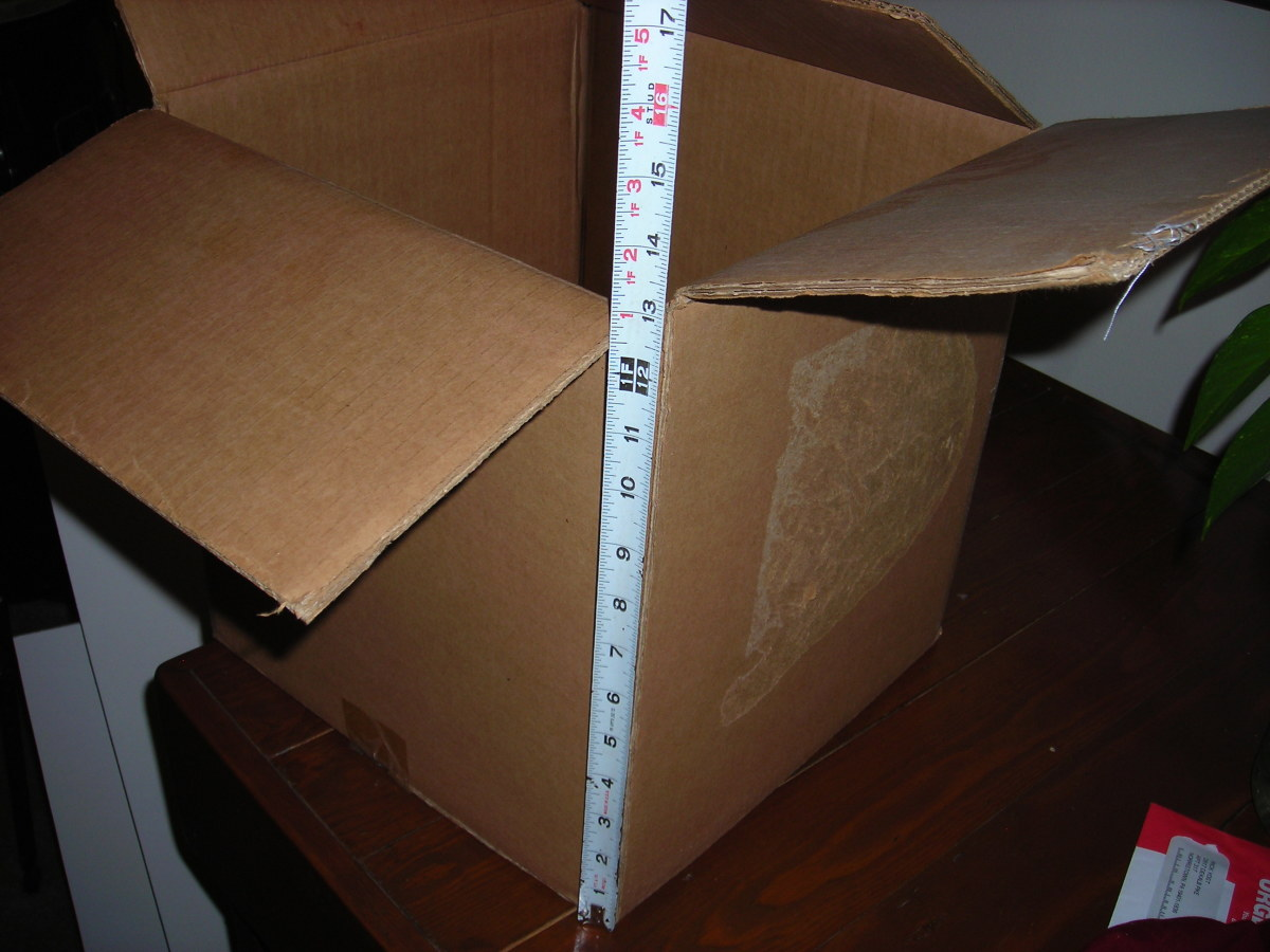 Measure Height of Box (or Height to where you plan to fill the liquid)
