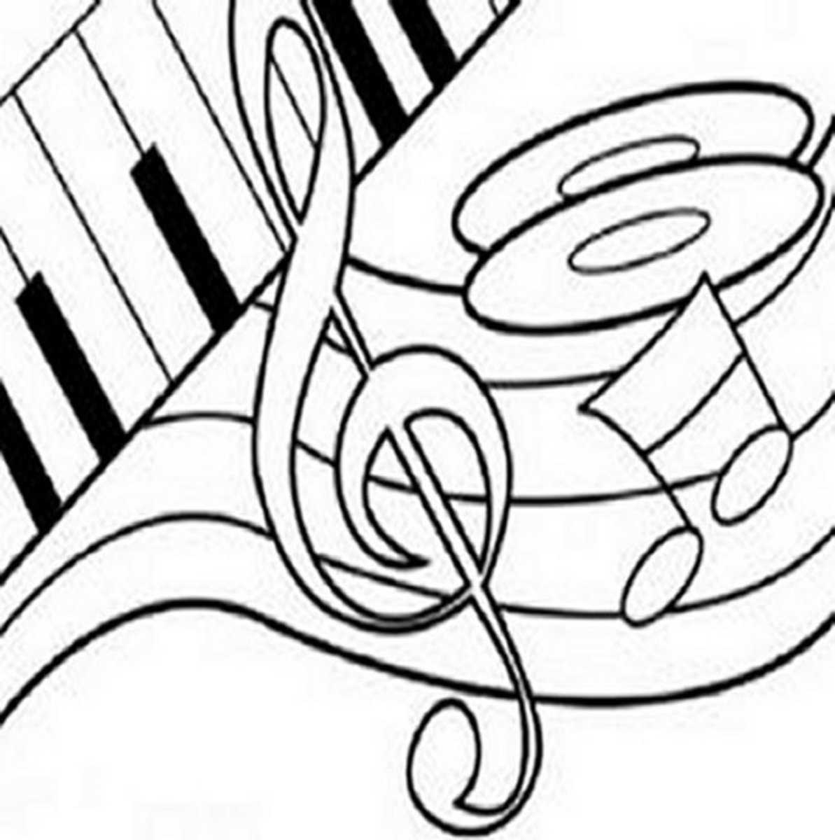 Musical Instruments Kids Coloring Pages Free Colouring Pictures to Print - Musical Notes