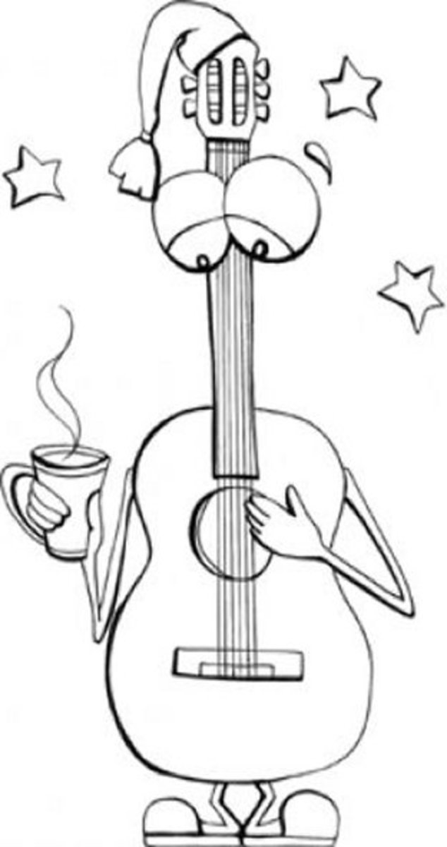 Musical Instruments Kids Coloring Pages Free Colouring Pictures to Print - Strings Alive