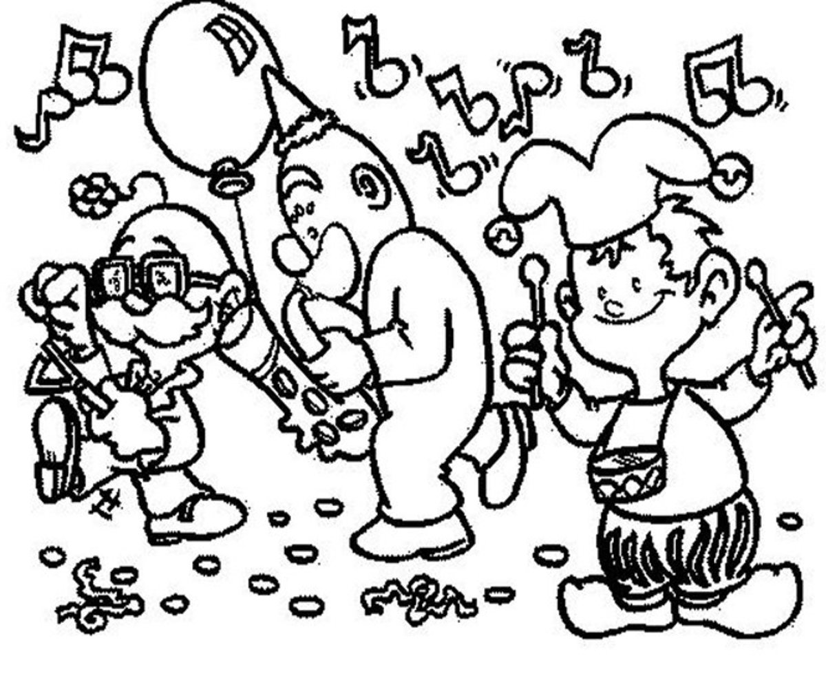 Musical Instruments Kids Coloring Pages Free Colouring Pictures to Print - Party Time