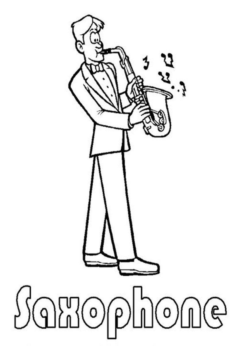 Musical Instruments Kids Coloring Pages and Free Colouring Pictures to Print