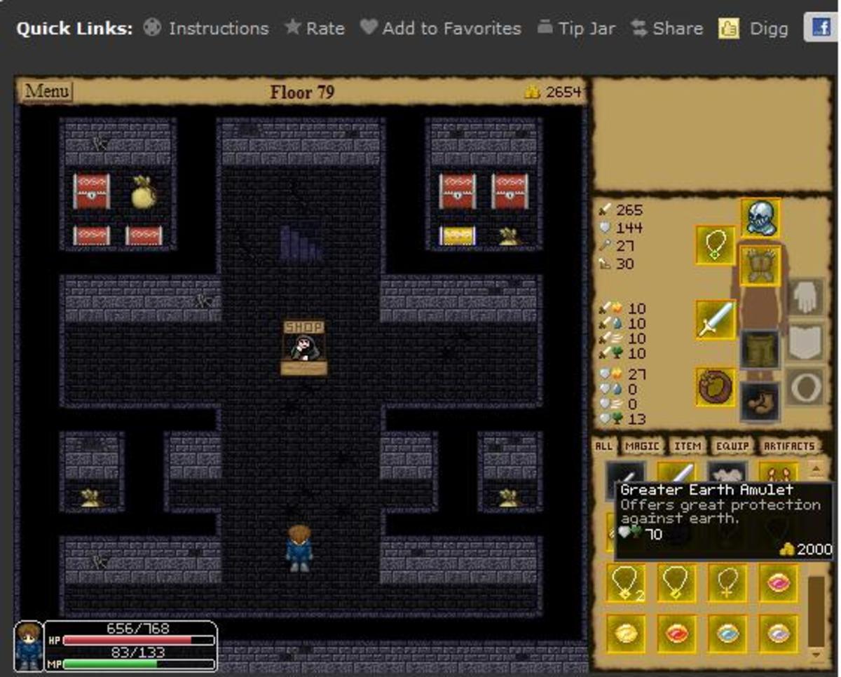 The Enchanted Dungeon Restart Screen