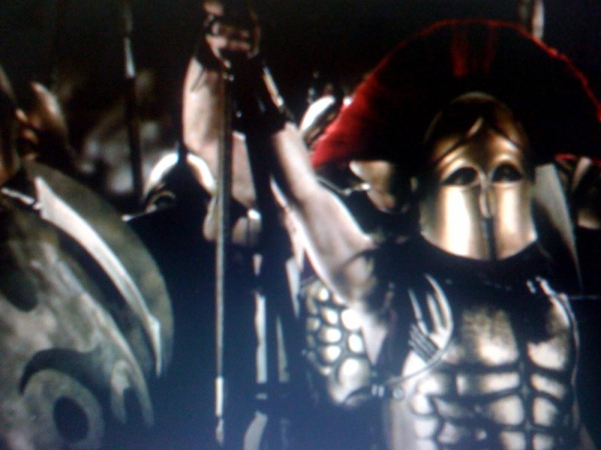 A Spartan Warrior versus a Roman Legionnaire.
