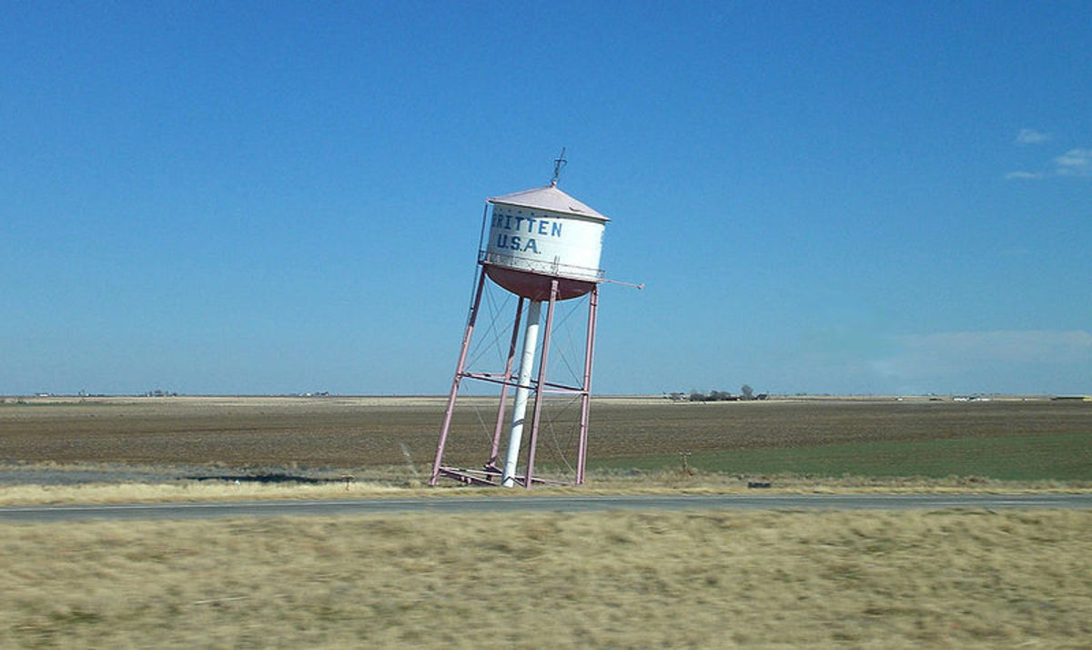 The leaning water tower in Britten, Texas was built this way, a gimmick to draw travelers into the nearby restaurant.