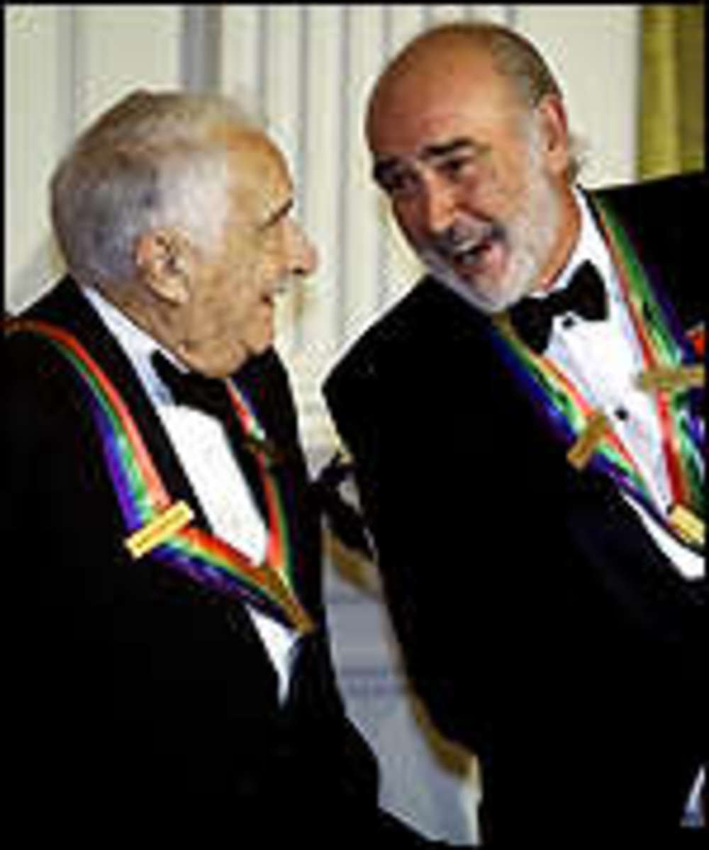 Victor Borge and Sean Connery receive awards, Kennedy Center 1999