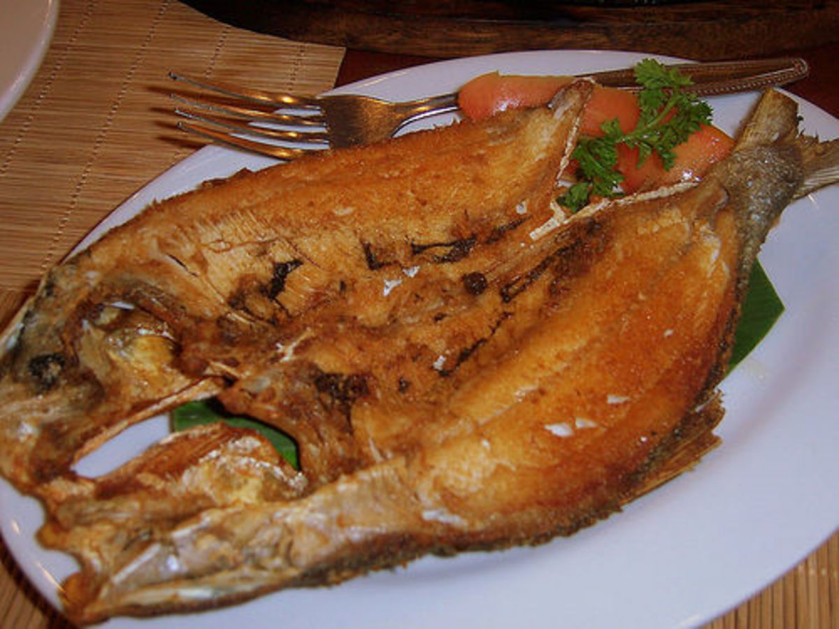 daing na bangus -- milkfish fried, sun dried and marinated then fried, -- milkfish -- national fish