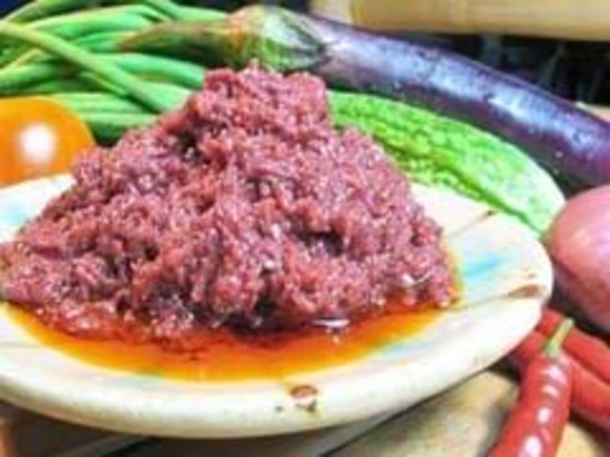 shrimp paste bagoong alamang is a good dip for almost anything