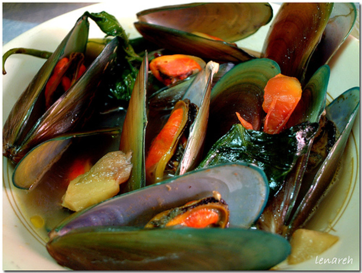 Asian mussell -- tahong -- famous seafood