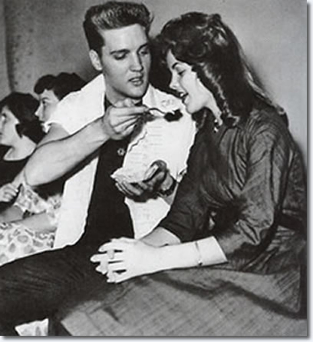 Priscilla was 14 years old when she met Elvis in Wiesbaden. In Germany, Priscilla would hang out at the Eagles Club, a place for eating and entertainment.