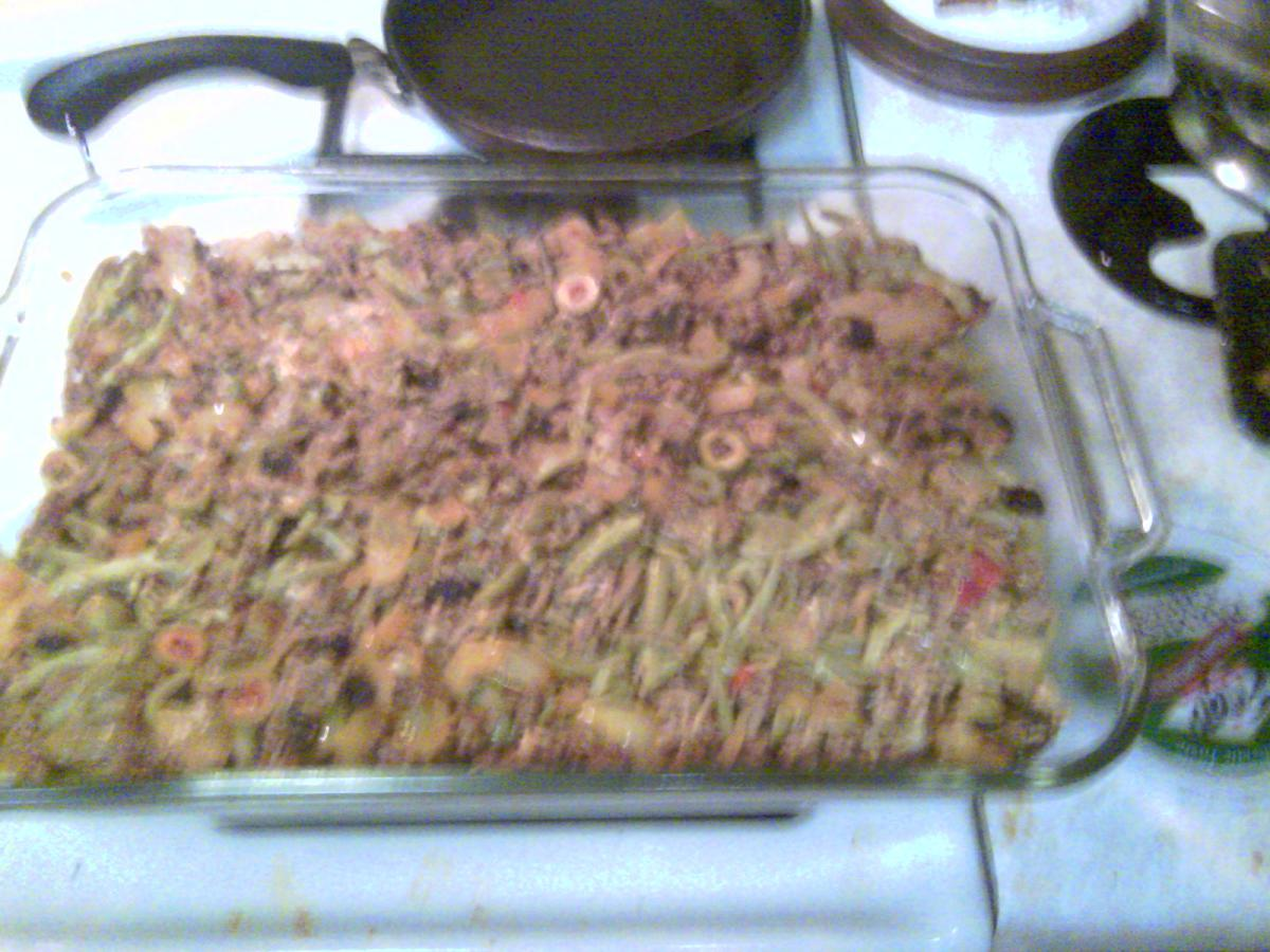 Stuffing on and patted down, ready for topping!