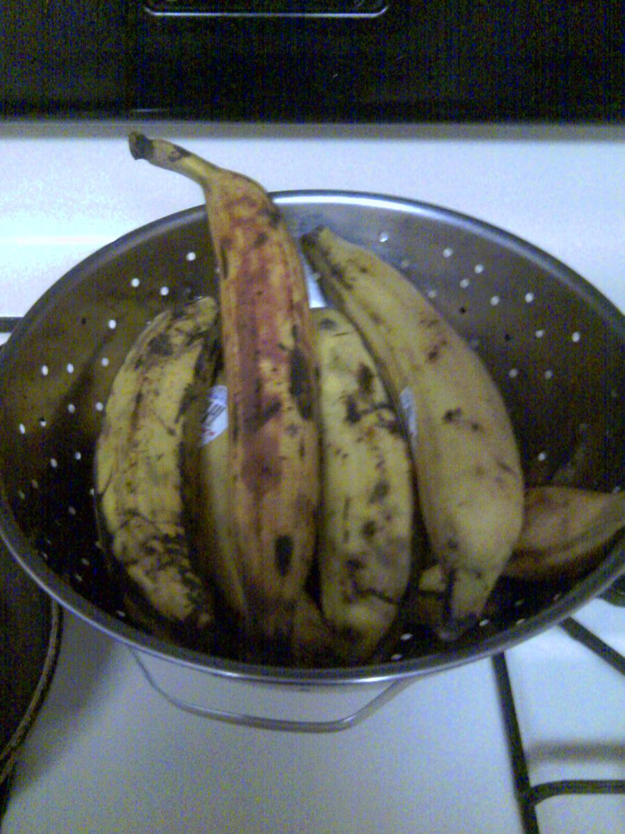 You do not want green plantains for this dish! Yellow with spots is what you need!