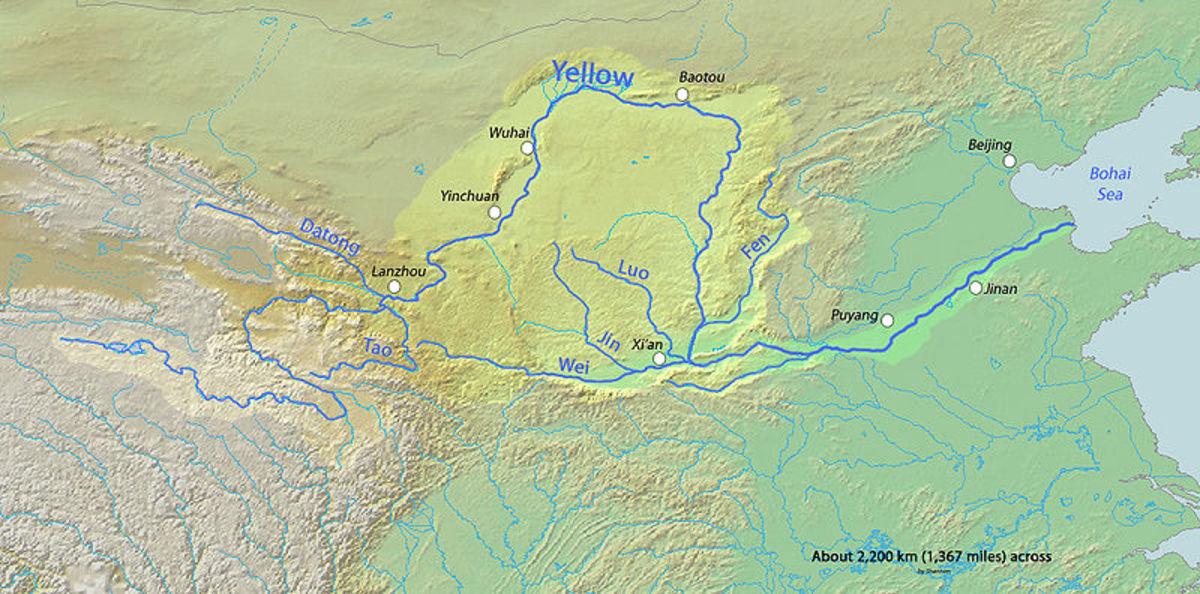 The Yellow River, China.