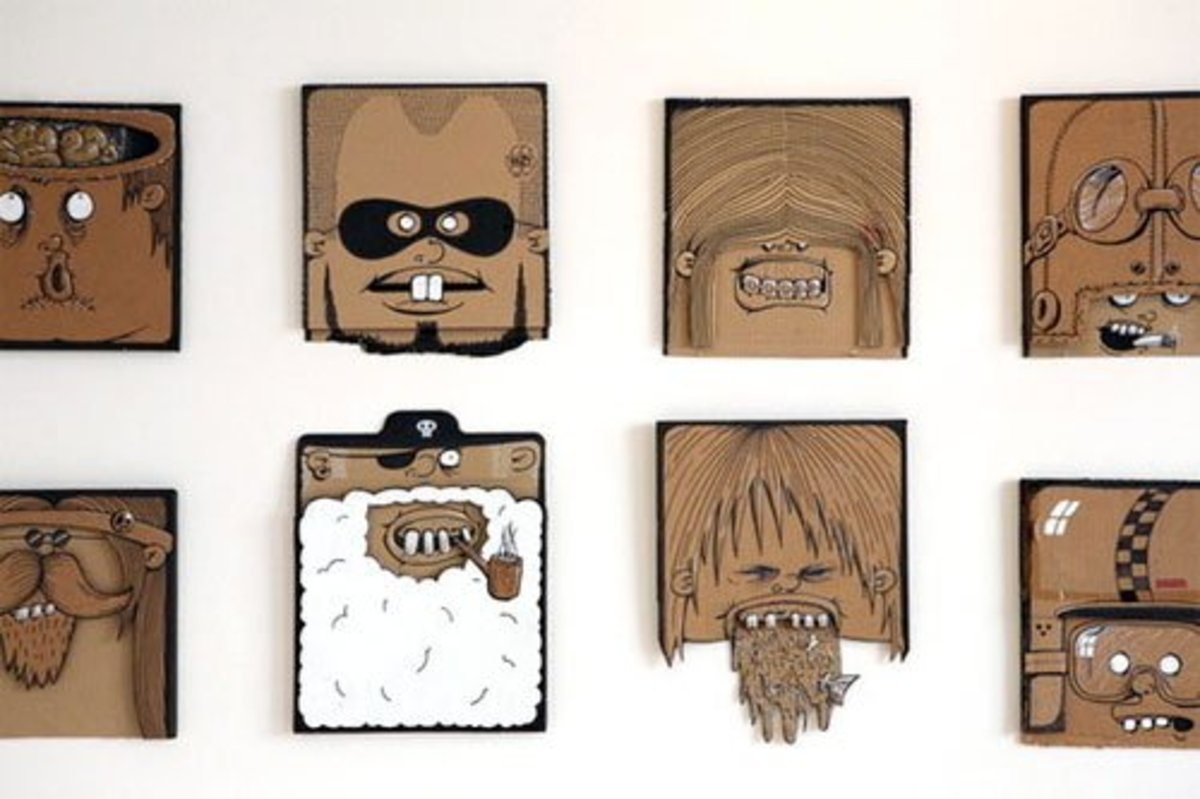 You could create characters by drawing on shaped squares of cardboard. A fun and quick project!