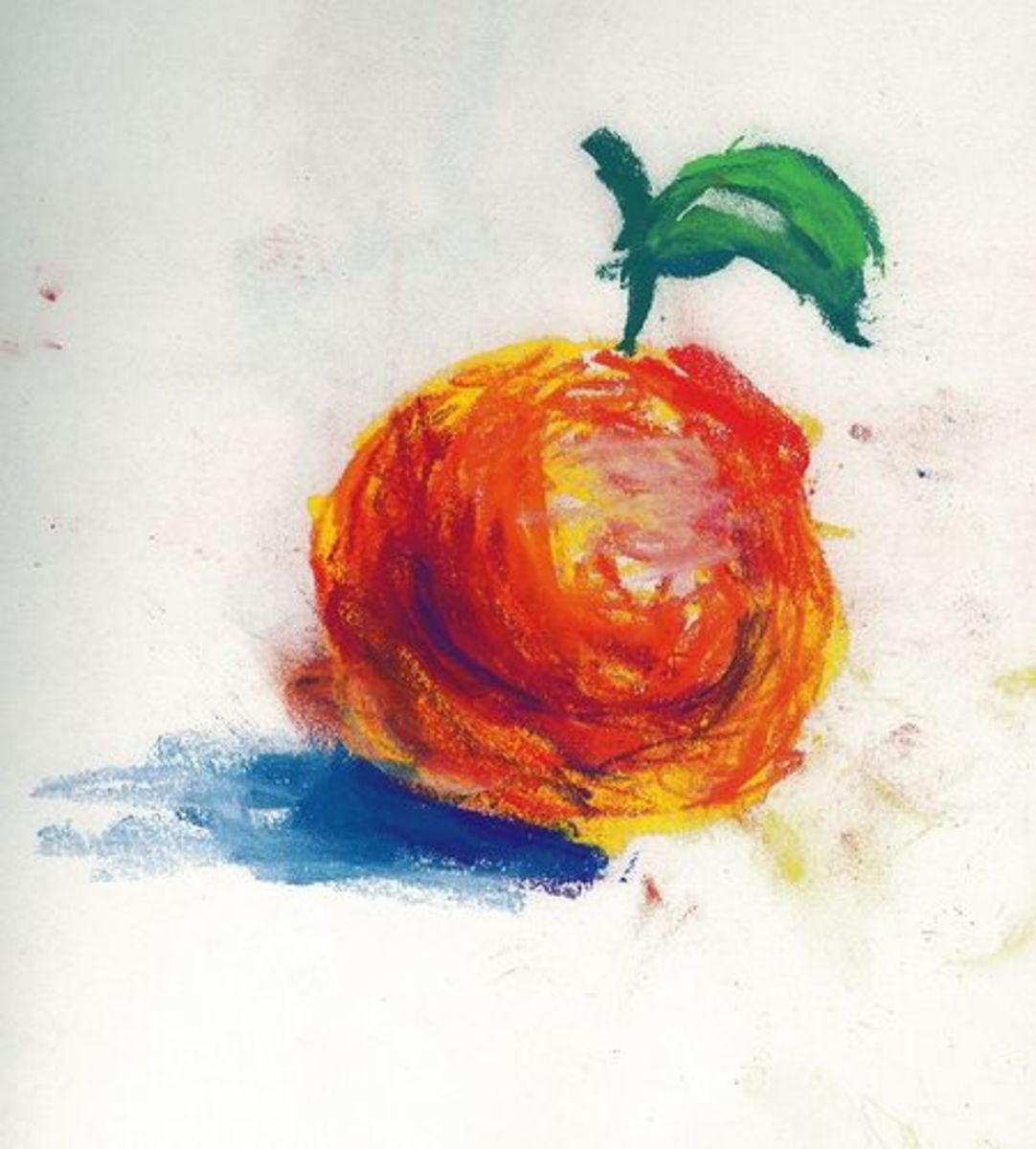 Using pastels is fun...and messy!