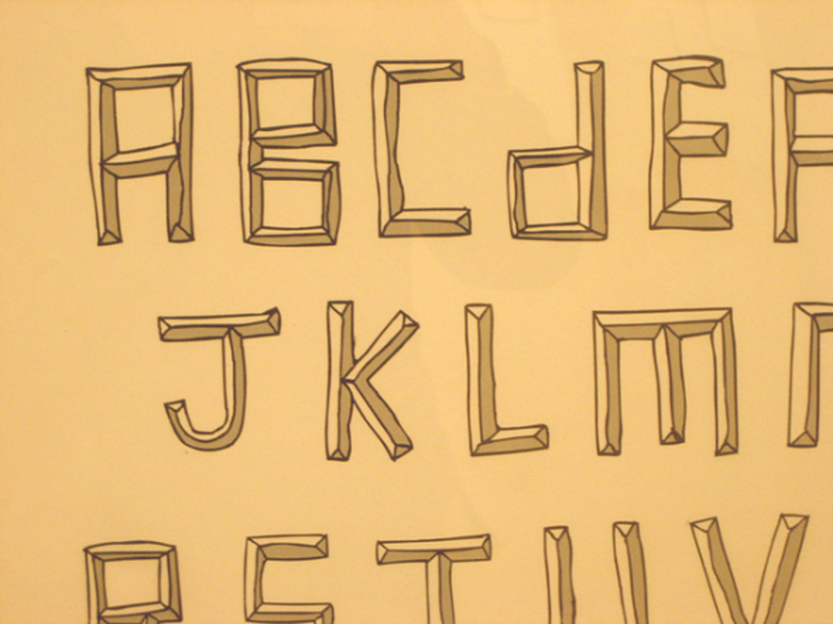 font-alphabet-drawing