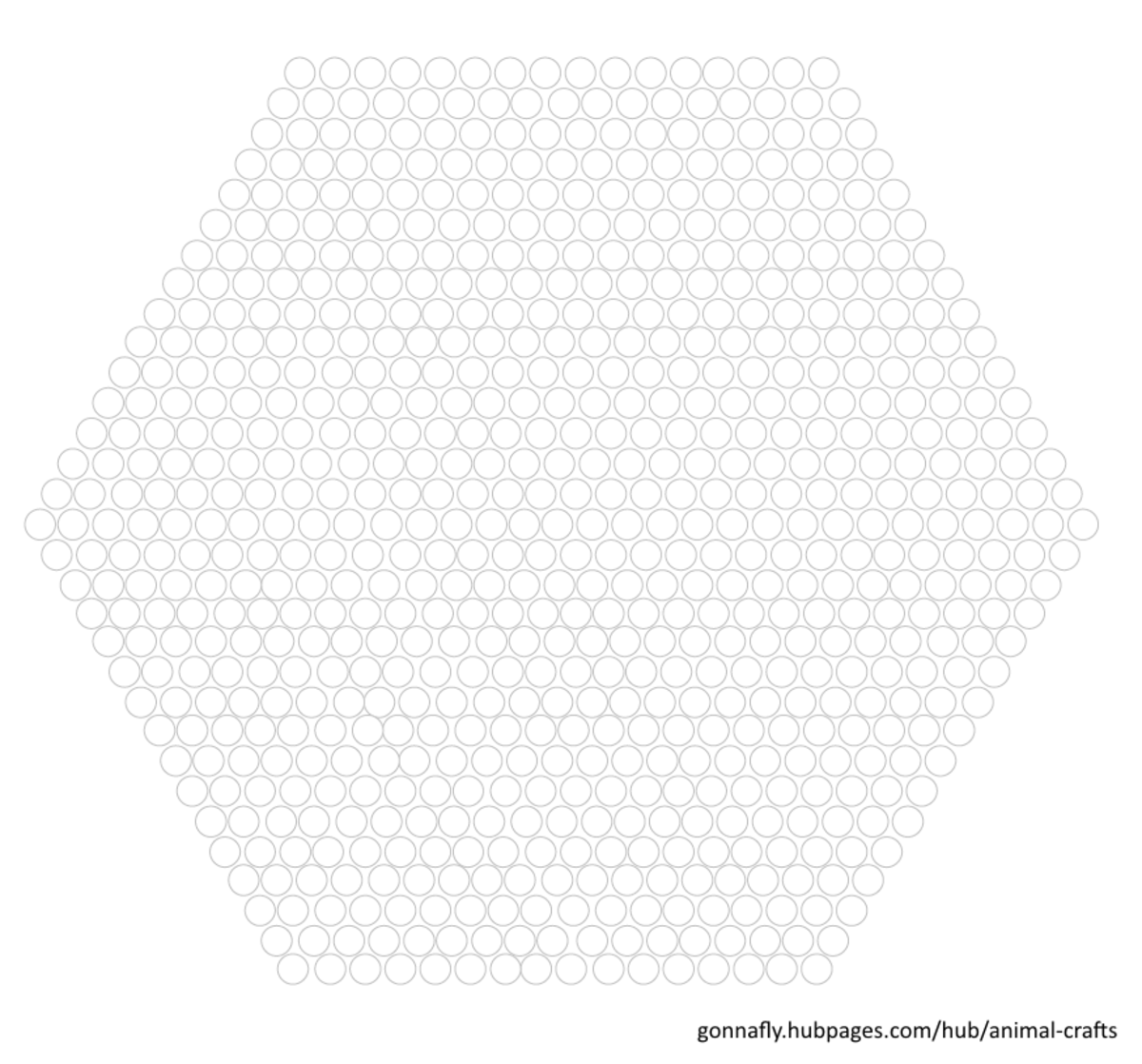blank fuse bead hexagon template for other projects