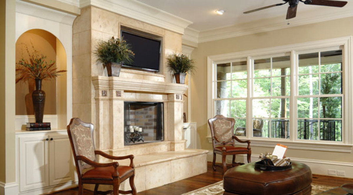 Fireplace as the Center of the Room Decor