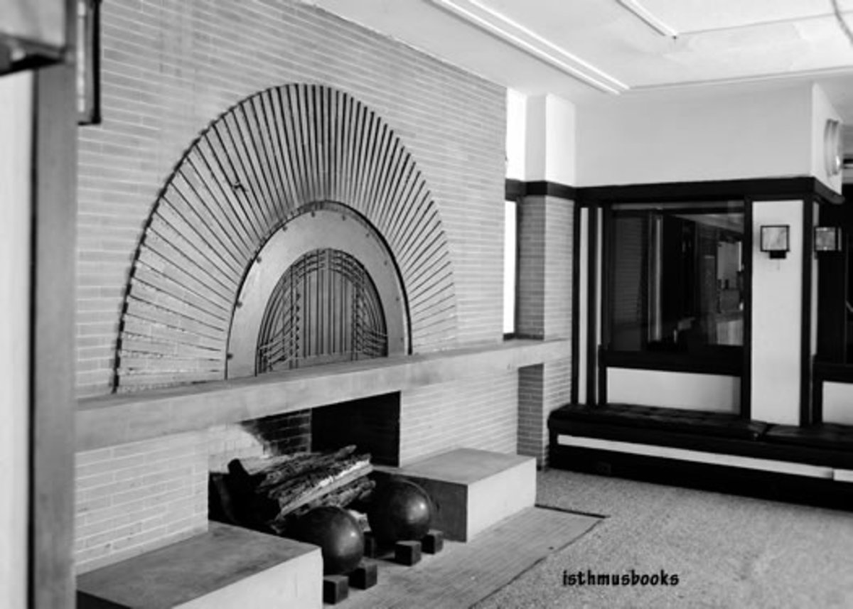 This is said to be the favorite fireplace of the late architect Frank Lloyd Wright