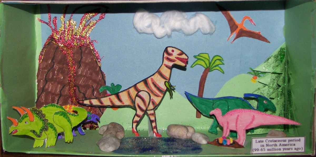 this diorama was done by my 5 year old daughter and myself we had a blast.