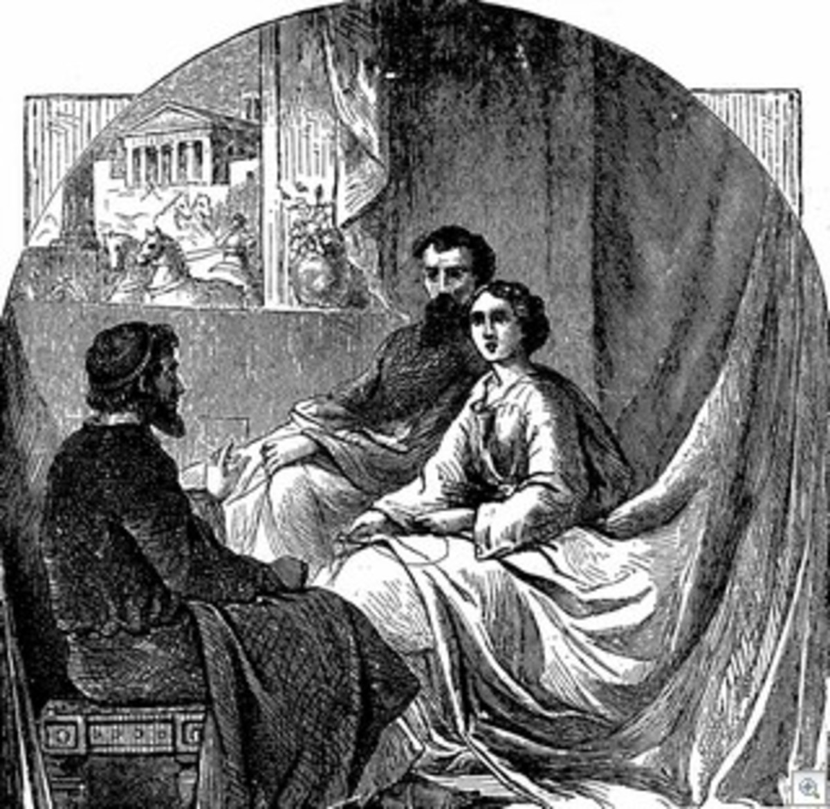 Paul, instructing Priscilla and Aquila