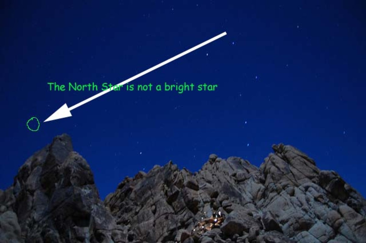 "Finding the North Star uses two ""pointer stars"" in the bowl of the Big Dipper constellation"
