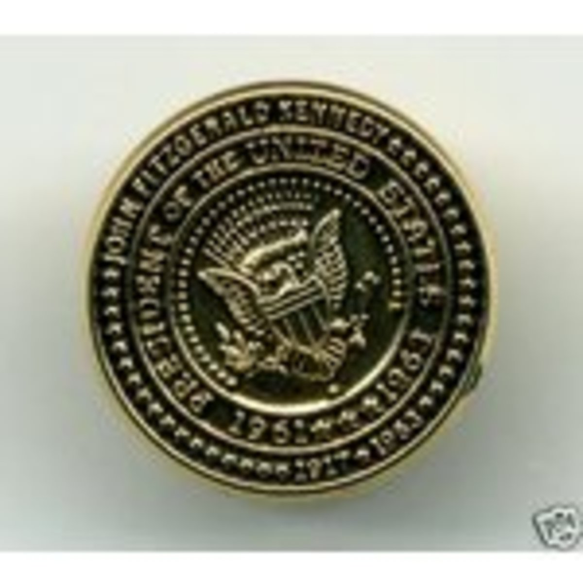 United States of America cuff link 1963 - John F Kennedy - Eagles and Stars