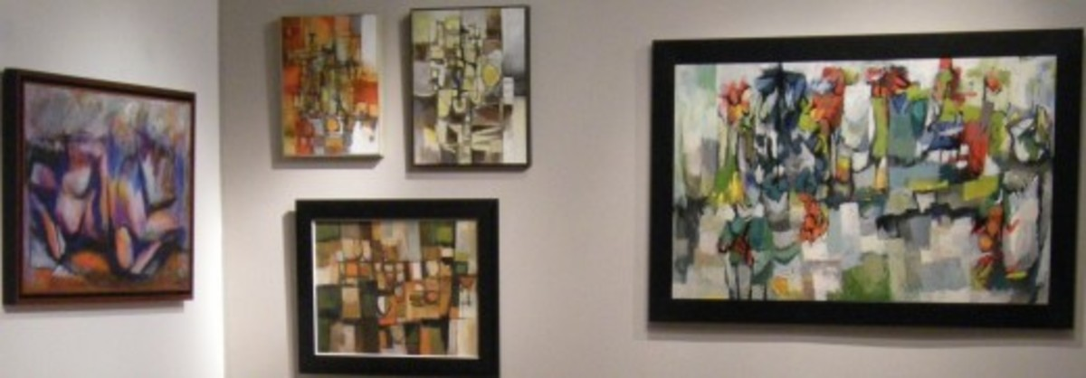 Rogan paintings hanging in the William Reaves Art Gallery