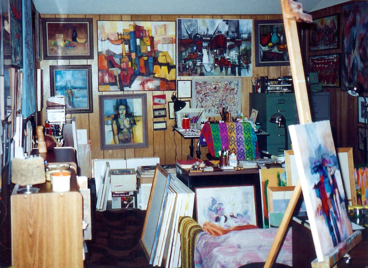 Partial view of the Rogan studio