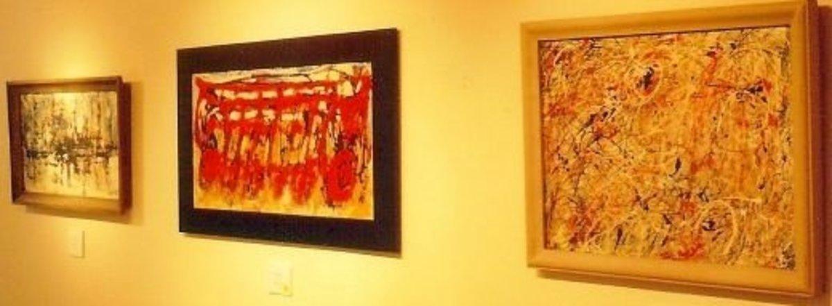 Rogan art hanging in the William Reaves Art Gallery