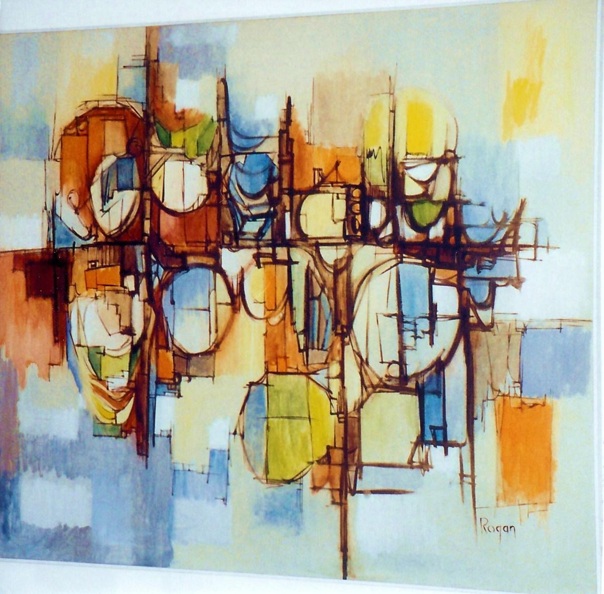 Dr. Robert Rogan, Exceptional Modern Artist, Professor, and Mentor: Photos of His Art