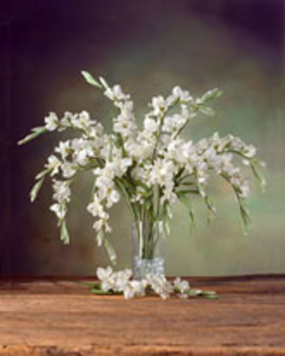 Try some beautiful gladiolus artificial silk flowers