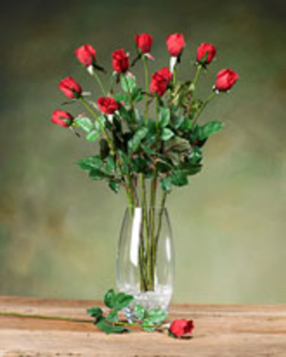 Rose buds are amongst the most popular artificial silk flowers