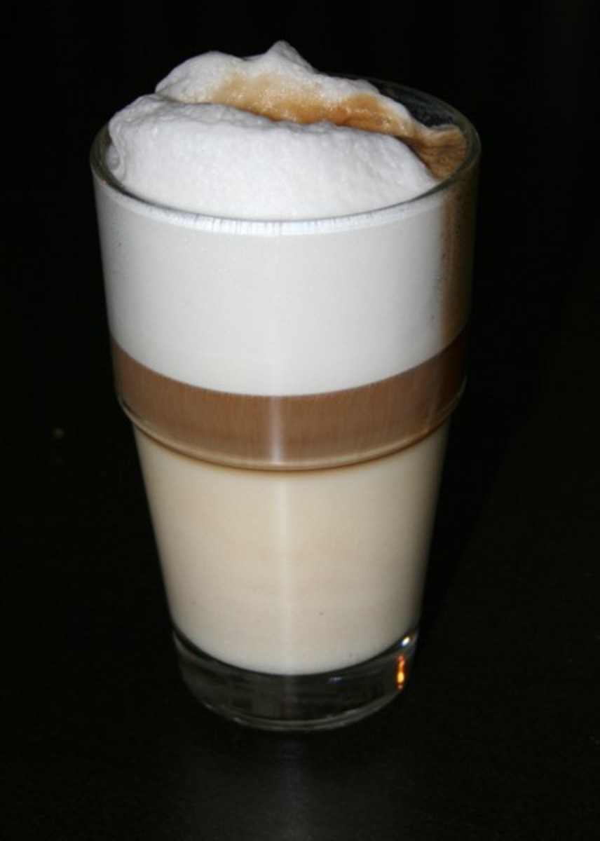 Layers of a Latte Macchiato
