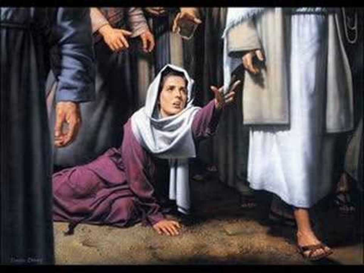 The woman at Jesus' feet made whole