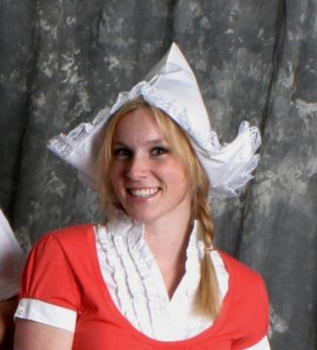 Dutch Cap - Great for wearing when walking along a Dyke?