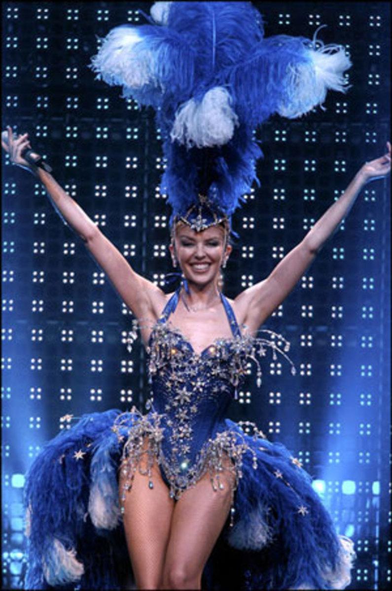 kylie Looking Fabulous in a Head Dress