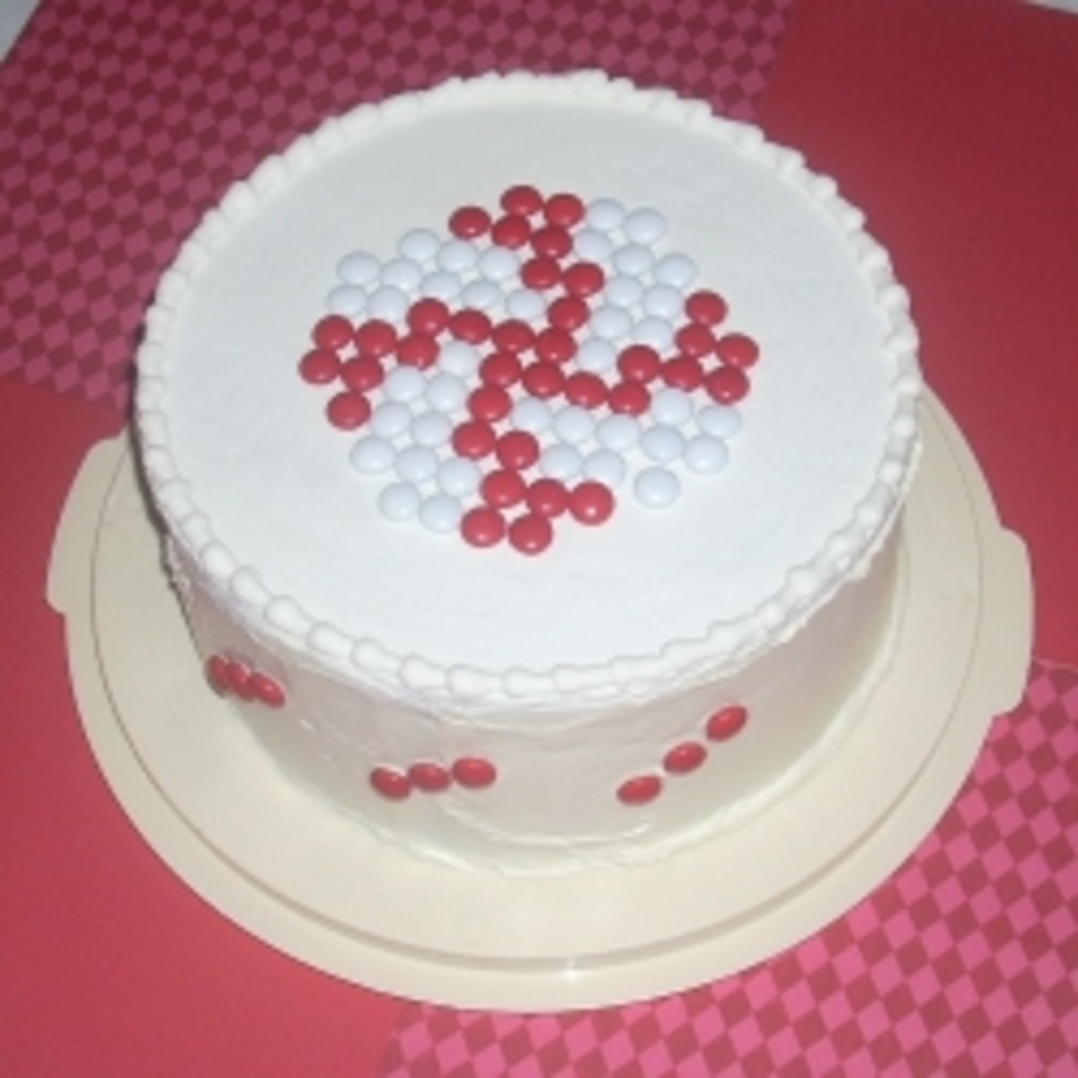 M&M Peppermint Pattern Cake