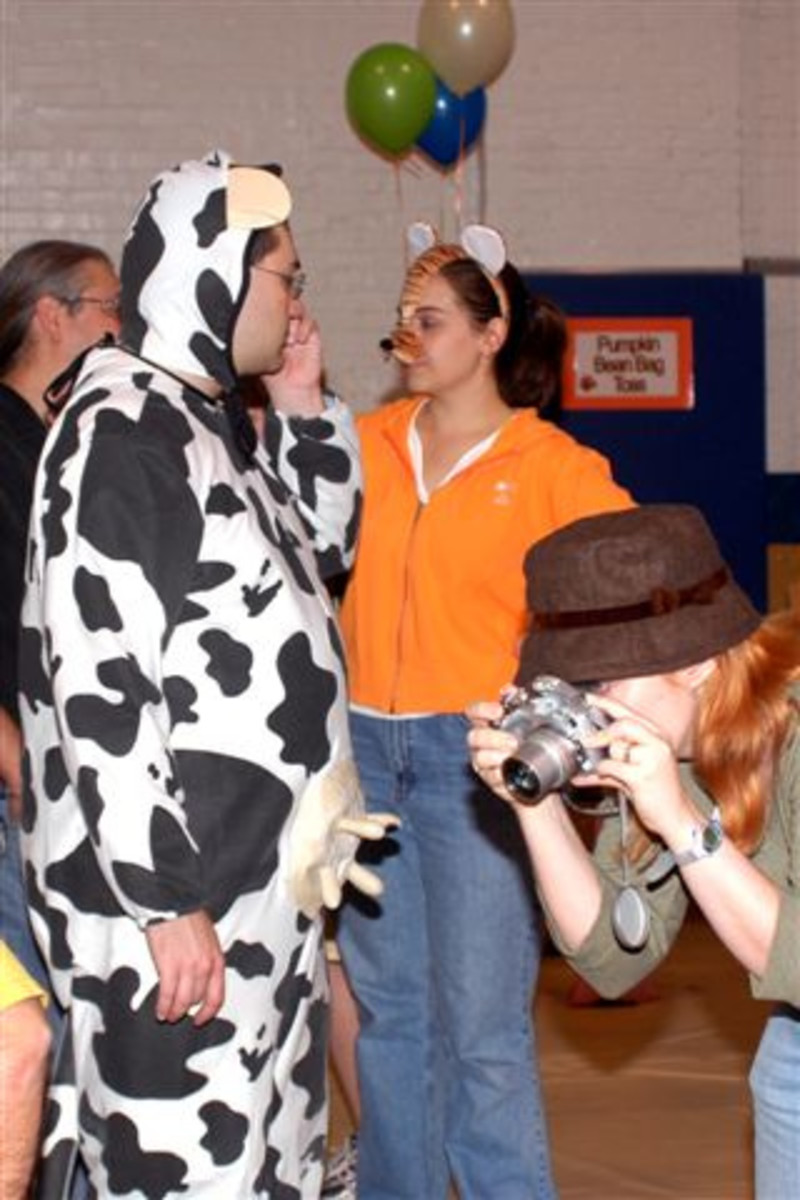 For those who give a cow on Halloween due to its pagan nature, why not throw a fall festival with costumes?