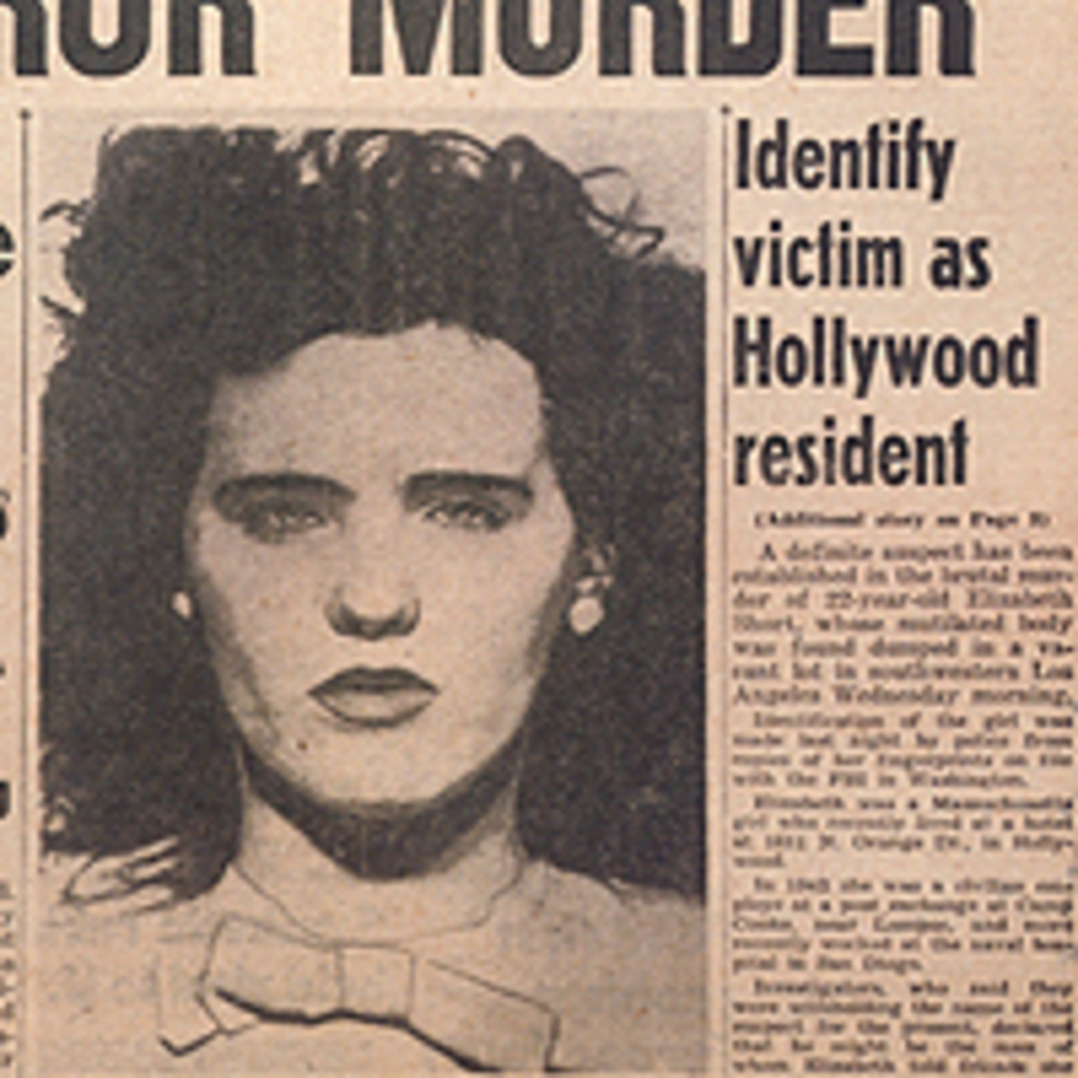 "Elizebeth ""Betty"" Short Poems About The Black Dahlia"